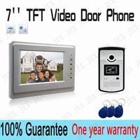 """Home 7"""" LCD monitor Speakerphone intercom Color Video Door Phone doorbell Control System IR doorphone"""