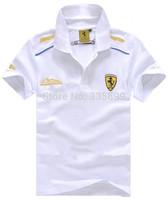 Hot selling famous car logo short sleeve t-shirt F1 racing tee shirt sport t shirt tshirt