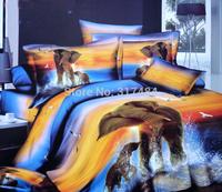 Hot Beautiful 4PC 100% COTTON COMFORTER DUVET DOONA COVER SET FULL / QUEEN / KING bedding set 4pcs animal elephant