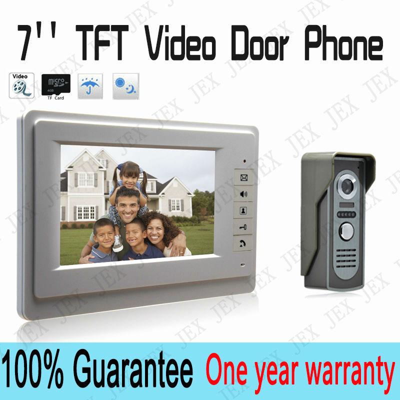 7`` TFT Color Video door phone Intercom Doorbell System Kit IR Camera doorphone monitor Speakerphone intercom(China (Mainland))