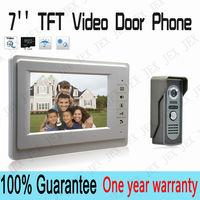 7`` TFT Color Video door phone Intercom  Doorbell System Kit IR Camera doorphone monitor Speakerphone intercom