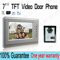 "Home Apartment Color Video door Phone Intercom System Kit 7"" TFT LCD Monitor IR Outdoor Camera doorphone"