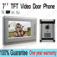 7``  Video door phone doorbell Wired video call  doorbell doorphone one year warranty free shipping