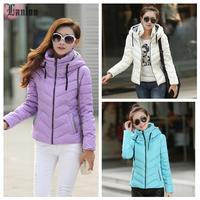 Lanluu 2014 New Winter Down Cotton Coat 6colors Optional Women Casual Outerwear Parkas SQ791
