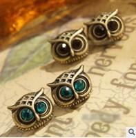 earrings earrings for women new fashion small restore ancient ways Temperament is delicate Cute owl earrings