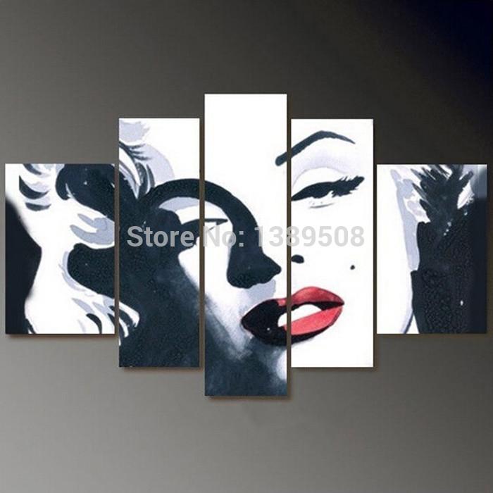 Black And White Pop Art Portraits Pop Art Painting Portrait