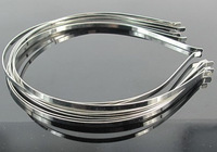 Free Shipping PPCrafte Wholesale 50PCS 5mm Metal Hairbands Base For Girl Kids