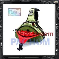 Foto Photo Padded Shoulder Triangle Sling Messenger Bag For Canon 100D 1200D 700D Nikon D5300 D3300 Pentax K5 K3 KR KX PP188