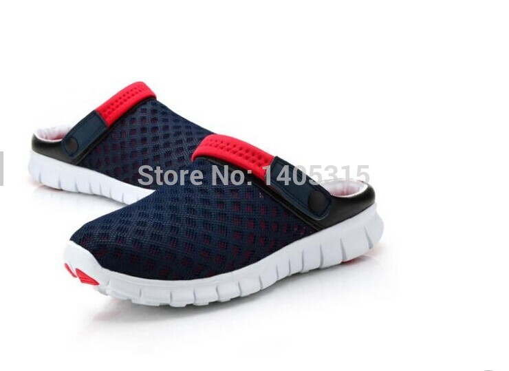 Casual Men Slippers Shoes Fashion Breathable Hollow Out Sandals Flip Flops Leather Trend Of The Drag Streetwear 850370(China (Mainland))