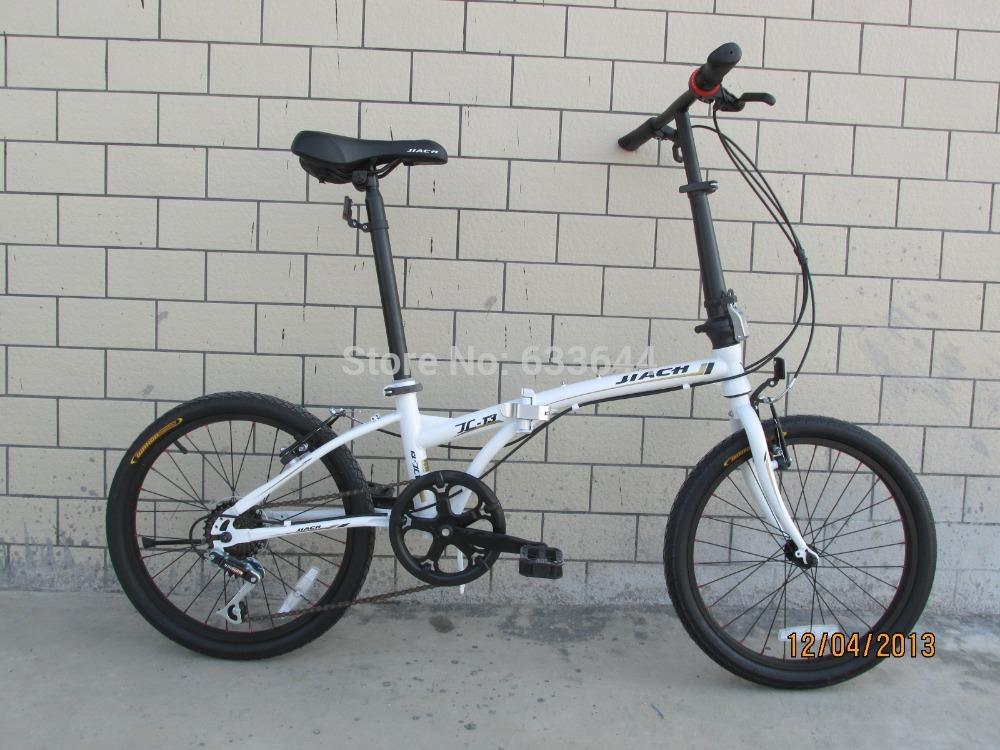 Free shipping 20 inch folding bike,7 speed bike with double V brake,circular tube folding frame(China (Mainland))