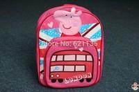 2014 New Peppa Pig Children Nylon Cute School Bags Baby Boys Girls Cartoon Kids Backpacks Back to School Gift Free Shipping