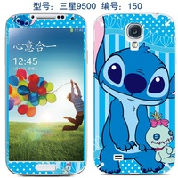 Cartoon screen protector for samsung galaxy s4  cell phone mobile sticker kawaii blue sprite dol print  film cover