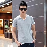 2014 summer men's clothing short-sleeve male 100% T-shirt short-sleeve cotton t shirt slim faux two piece top