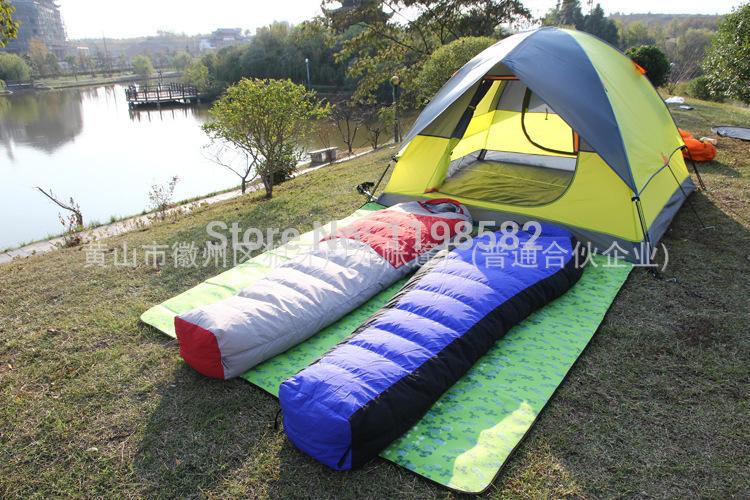 OEM 1500G Ultralight Duck Down Sleeping Bags New Outdoor camping & hiking Warm Cotton sleeping bag(China (Mainland))