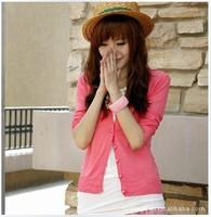 happy SZ  women's slim basic sun protection clothing thin cardigan outerwear air conditioning shirt ks0056