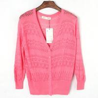 6544 Sweaters women fashion Candy Long Size Summer Lace Cardigan Sweater Coat for women ks0040  6544