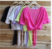 happy SZ    Women Lace Sweater Sun Protection Clothing Shirt Small Shawl Knit Top Thin Blouse Sweater Cardigan ks0050