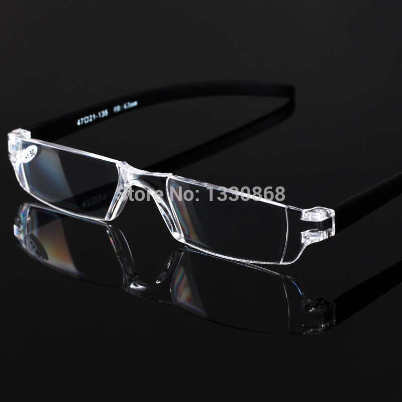 brand high grade pc anti fatigue reading glasses frameless