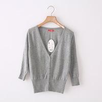 6544   Spring And Autumn Ladies Knit Hollow Flouncing Puff Shawl Cardigan Sweater Coat Sun Protection  ks0044 6544