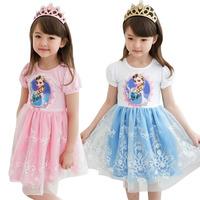 Kids Party Dress Baby Girl's Frozen Summer Dress Girls Cartton tutu princess dress for Kids