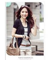 6544  Ladies Short Sleeve Knitted Blouses  Brand Girl Hollow V collar Crochet Cardigan Women ks0033 6544