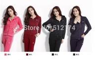 2014 New brand women sport suits sportwear women sets long sleeve tracksuit jacket+pants set hoodies sweatshirts 4 colors