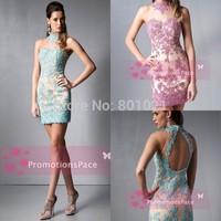 Bewitching Looking 2015 Elegant Sparking vestidos de cocktail High Appliques Beading vestidos de fiesta elegant cocktail dresses