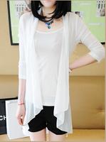 6544  Sun Clothing Beach Female Jacket Protection clothing cardigan long design  air condition shirt ks0052 6544