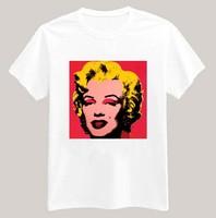 Sexy Marilyn Monroe Printed Tshirt For Women Men Short Sleeve Unisex Cotton Casual White Shirt Top Tee XXXL Big Size ZY053-01