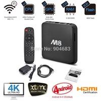 New Android TV Box M8 MINI PC Quad Core 2G/8G Amlogic S802 XBMC GPU 4K HDMI Bluetooth 2.4G/5G Dual WiFi DHL EMS freeshipping