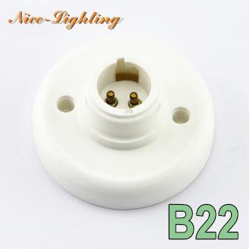 10pcs/lot B22 Bayonet Base Lamp Holder 78mm Diameter 40mm Height Round Bulb Adapter Lamp Socket Base Free Shipping(China (Mainland))