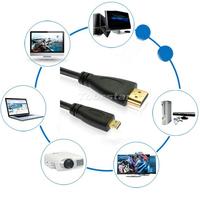 100pcs Micro HDMI TV Video Cable Cord For Motorola Asus Vivotab Smart Amazon Kindle Fire HD Kodak EasyShare