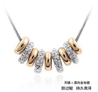 Free Shipping! Elegant princess crystal necklace ornament wedding accessory box pack SWR005
