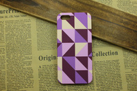 Purple 10Pcs Korean print flower geometric Floral pattern hard cover case For iphone5 5s girls cute gift for women free shipping