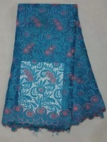 High quality african french cord chemical water soluble lace fabric 5yards WL706F