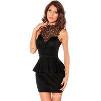 2014 summer new  temperament OL lace patchwork Dress sexy backless dress ruffles layered party evening dress