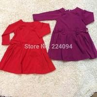 Free shipping 2014girls brand dress girls 100%cotton  dress 2 colors  fashion  baby grils dress 1-6yeas old