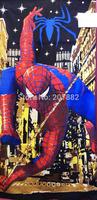 Wholesale 20pcs/lot! New Style Spiderman Beach Cotton Children Towel Cartoon Bath Towel(150cm*75cm) A3419 Free Shipping