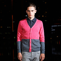 Male sweater male autumn sweater male thin cardigan slim men's clothing outerwear