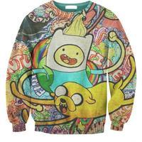 New 2015 Men/Women's Spring Autumn Hoodies Creative CARTOON 3D Print Sweatshirts Cute Woman Sexy jacket Coat Free Shipping