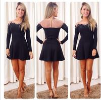 2014 Women Plus Size Dresses Lace Dress Casual Vestido Verao De Praia Mulheres Cotton Formal Bodycon Branco Renda Amarelo OM001