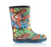 Wholesale Cute Children's Hero alliance matt finish rubber boots  Style Rubber Rain Boots EU25-36#