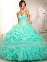 Custom Made 2014 Top Quality Ball Gown Crystal Wedding Dress Rhinestone Sweetheart Princess Bridal Gowns Wedding Dresses 0795