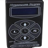 Free Shipping  Brand New One PRO black Hurricane Digital DUAL Tattoo Power Supply Unit Kit Fountain Source