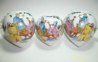 ES035 Jingdezhen China ceramic bird feeder cup,Hand painted, heart shape,Taoyuanjieyi China history story design,3Pcs one sets