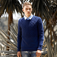 Autumn and winter sweater male straight male pullover o-neck sweater male