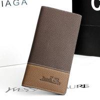 Carteira masculina 2014 Fashion Genuine Leather Men Wallet Long Design Brand Man Wallet Business Card Holder Bag Purse