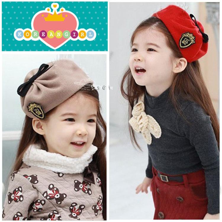 Children's hair accessories headdress navy beret hat hair bands girls fashion hoop headband cheap wholesale 10pcs/lot(China (Mainland))