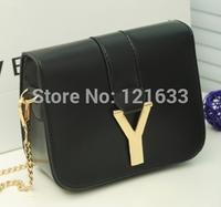 letter Y designer brand name clutch bag women handbag leather handbags high quality pu women messenger bag gold chain Famous