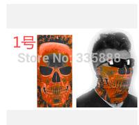 New Fashion 2Pcs/Lot Skull Design Multi Function Bandana Ski Sport Motorcycle Biker Scarf Face Mask Free shipping